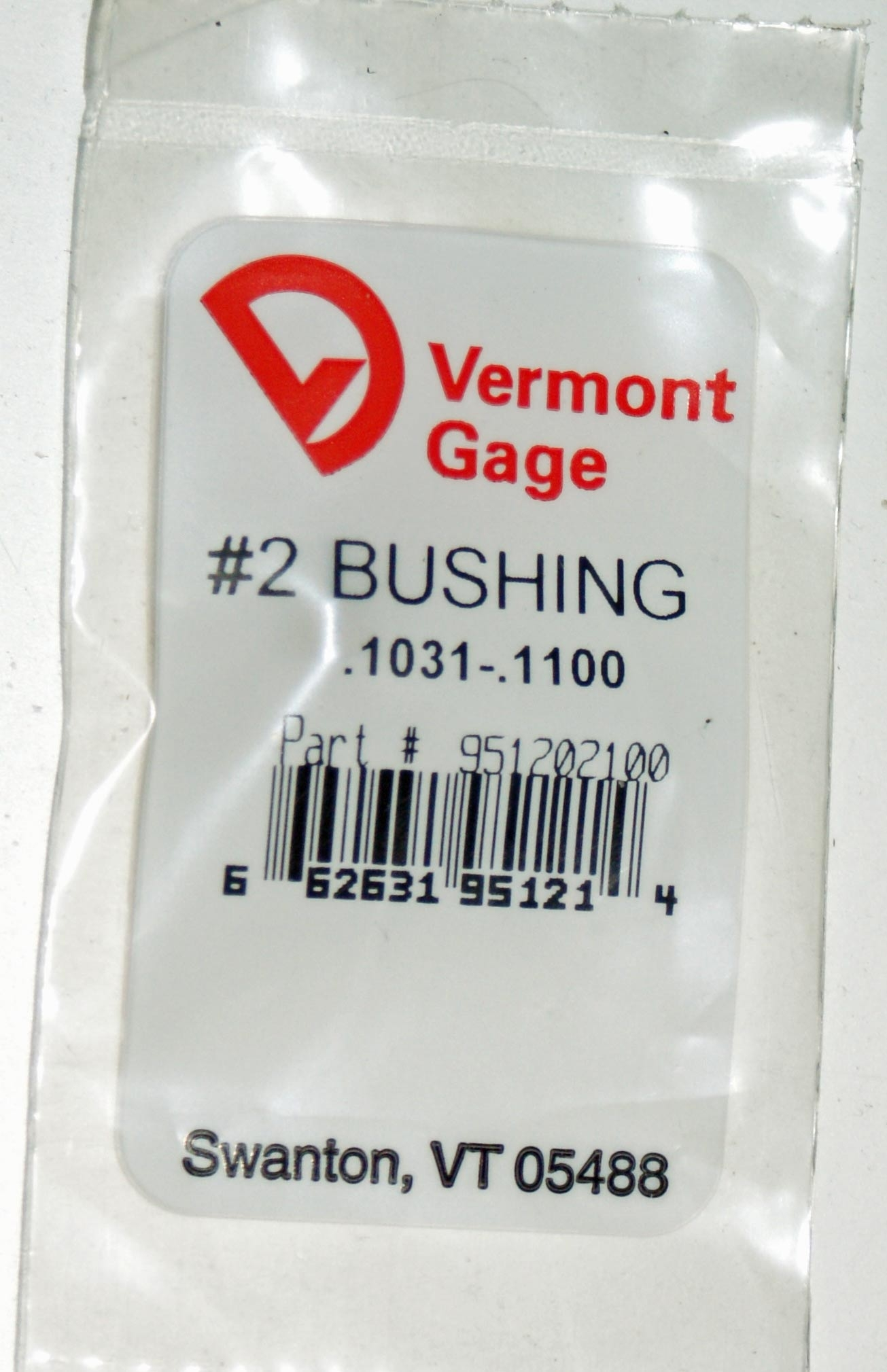 "Vermont Gage .1031 - .1100"" #2 Bushing / Collet Pin"