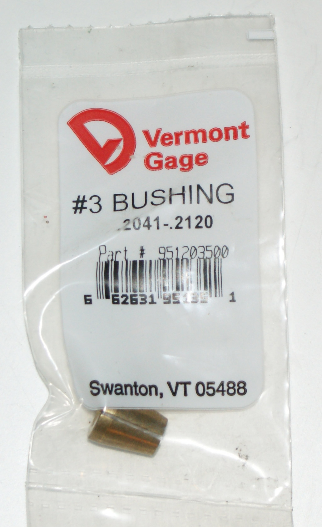 "Vermont Gage .2041-2120"" #3 Bushing / Collet Pin"