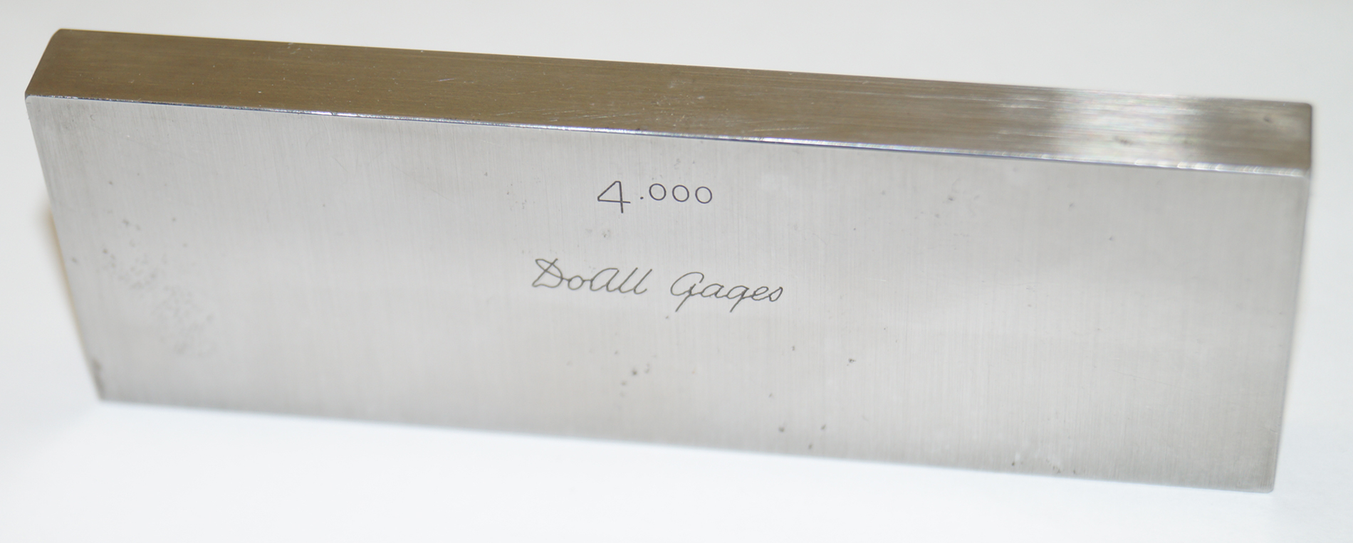 "DoALL 4.000"" Gage Block - Steel Rectangular Gauge"