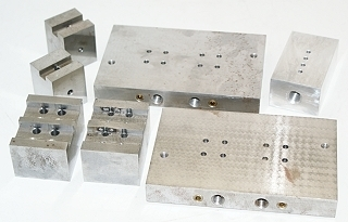 EDM Gear Cavity Flush Manifolds w- 6 Holders, Block