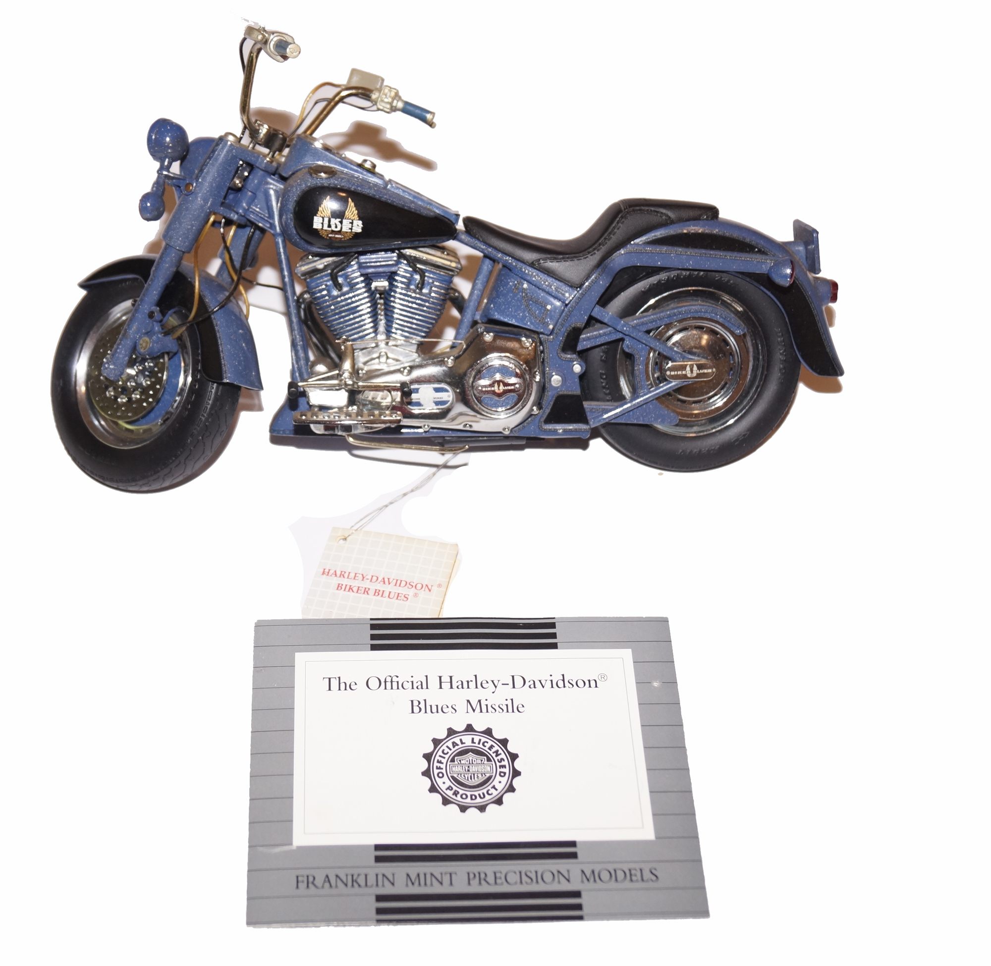 Franklin Mint Harley Davidson Biker Blues Blue