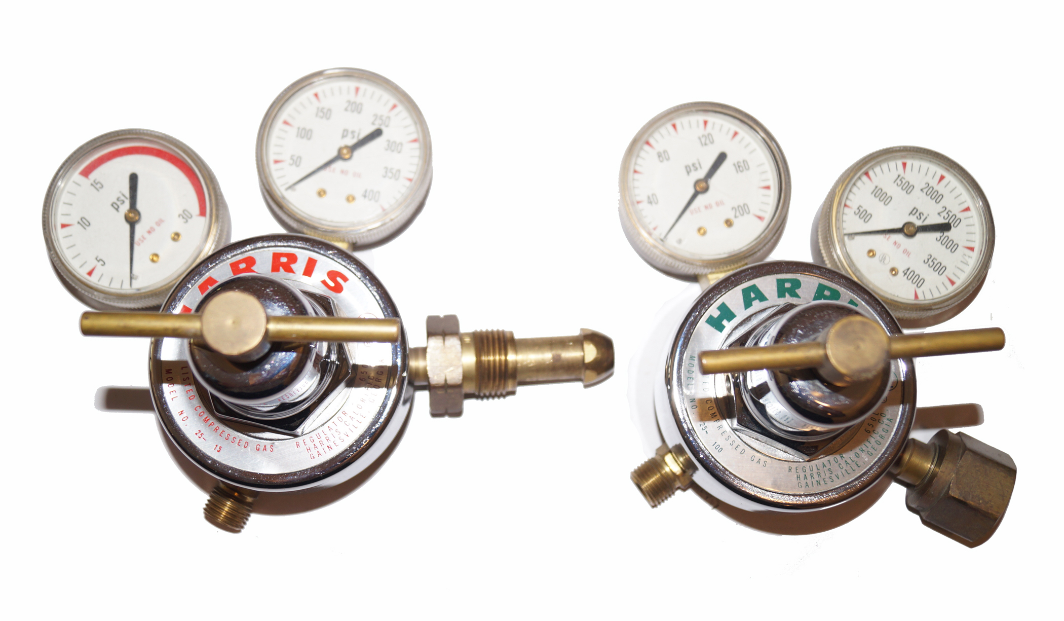Harris 650L Acetylene/Oxygen Torch Regulators