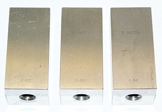 "Hoke 2.06286"" Gage Block Set - 3 Pc."