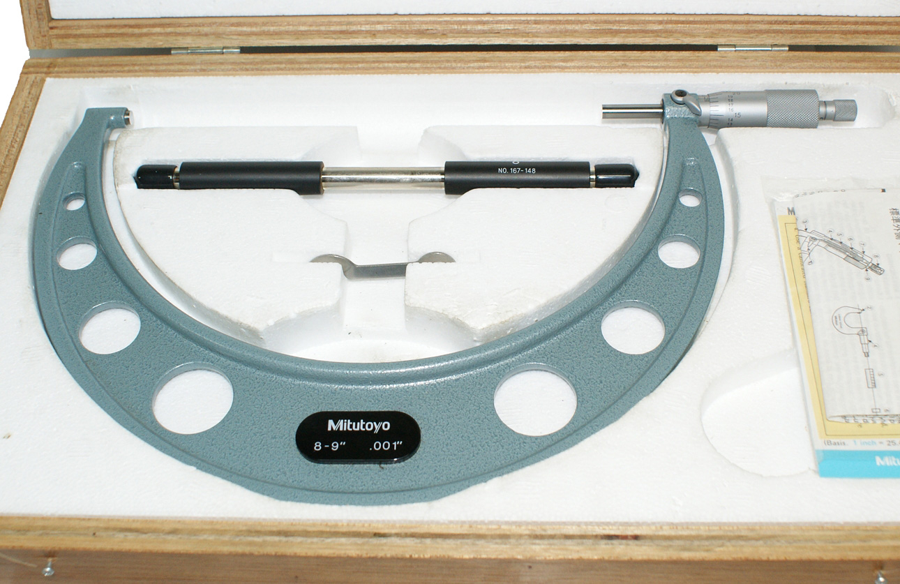 "Mitutoyo 8-9"" Micrometer - Outside .001"" Measurement"