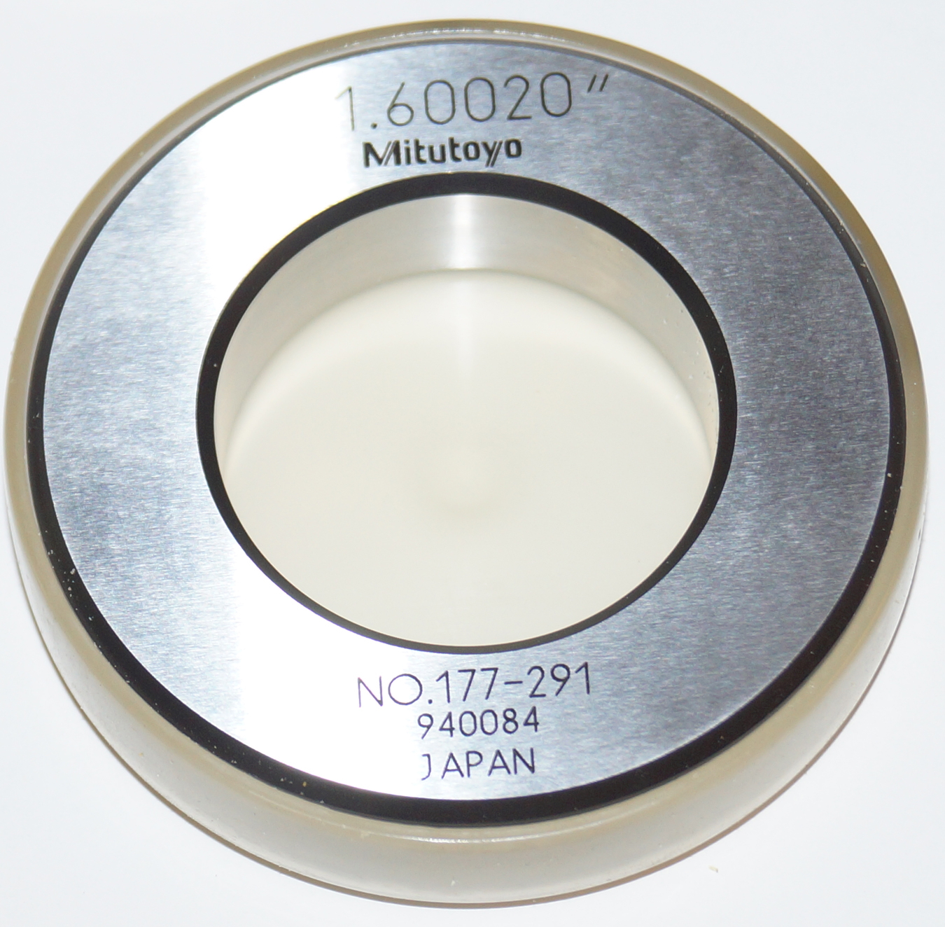 "Mitutoyo 1.6"" Setting Ring Master 177-291"