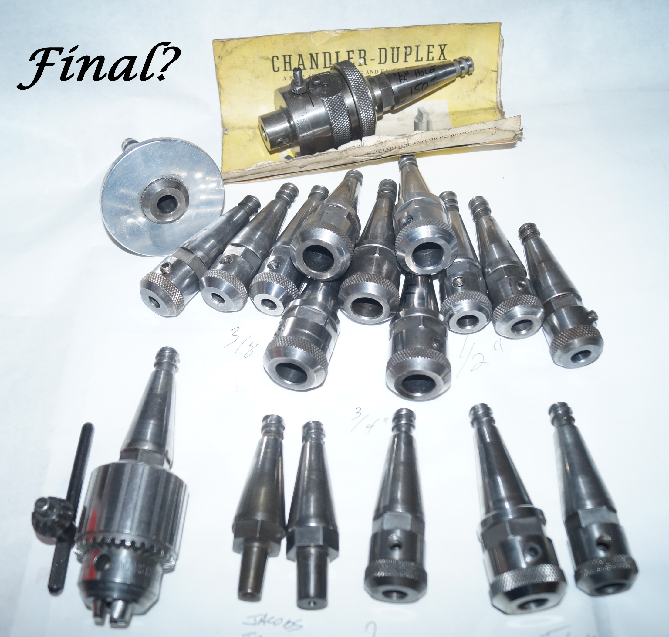 Moore Jig Bore Tooling Lot (19) Pieces - As Pictured