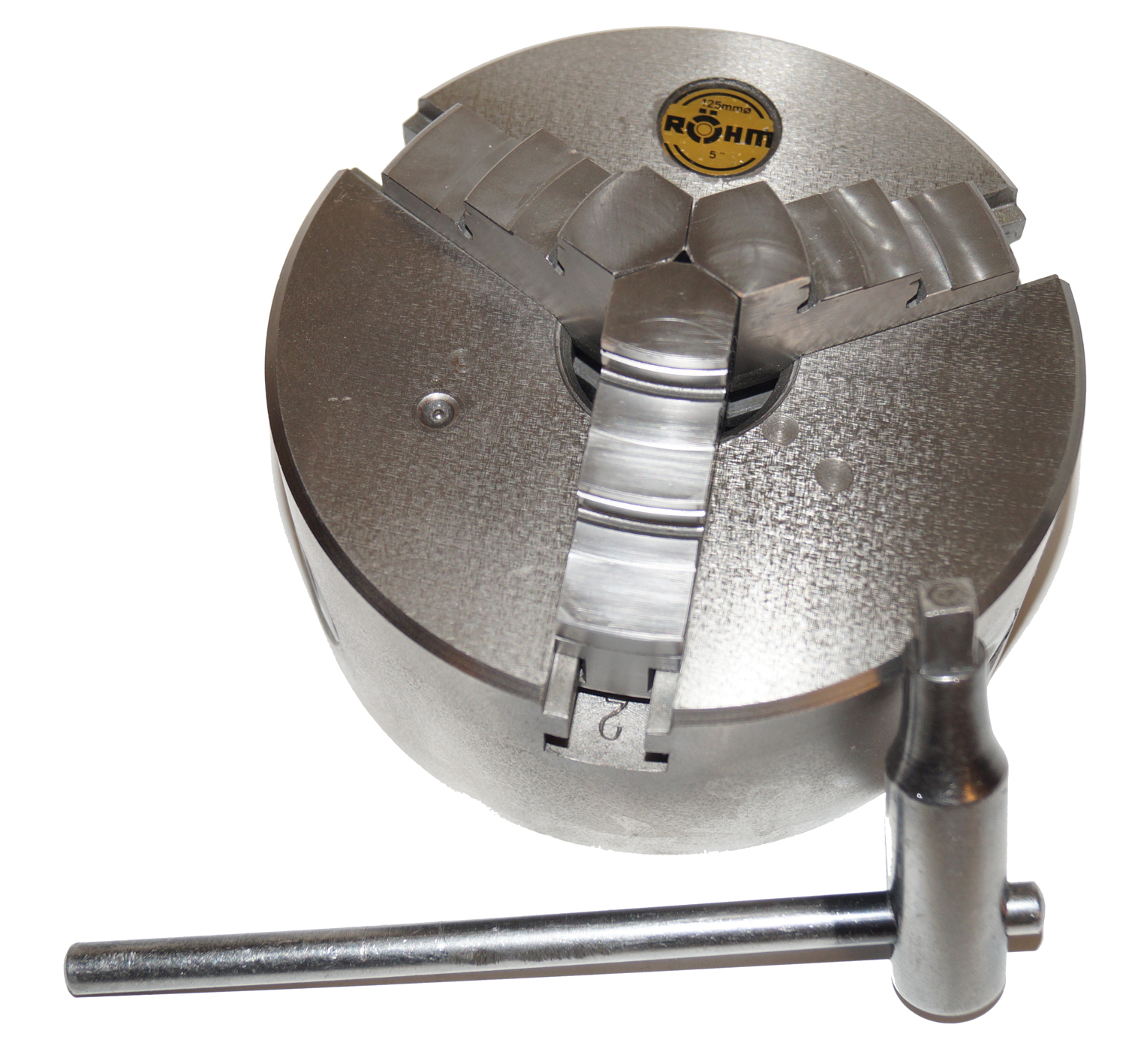 Rohm - 3 Jaws, 5 Inch Diameter, Self Centering Manual Lathe Chuck