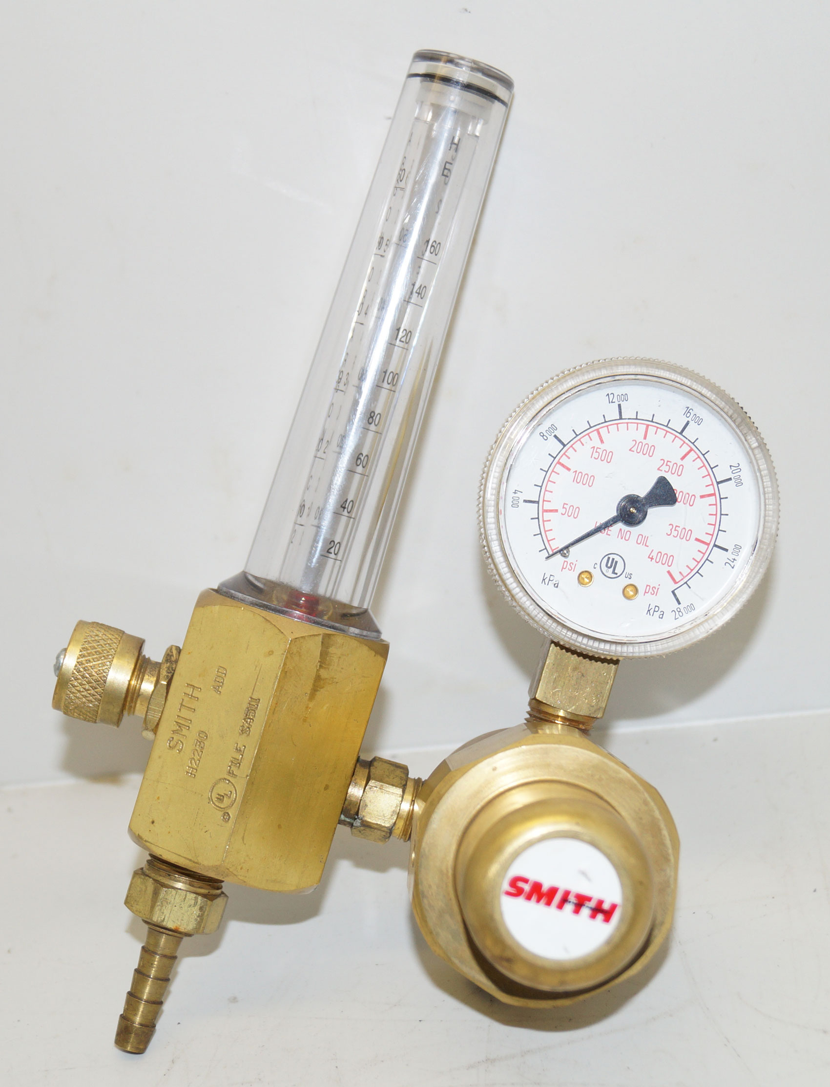 Argon - CO2 Flowmeter H2230 w- Regulator 3000 PSI Smith