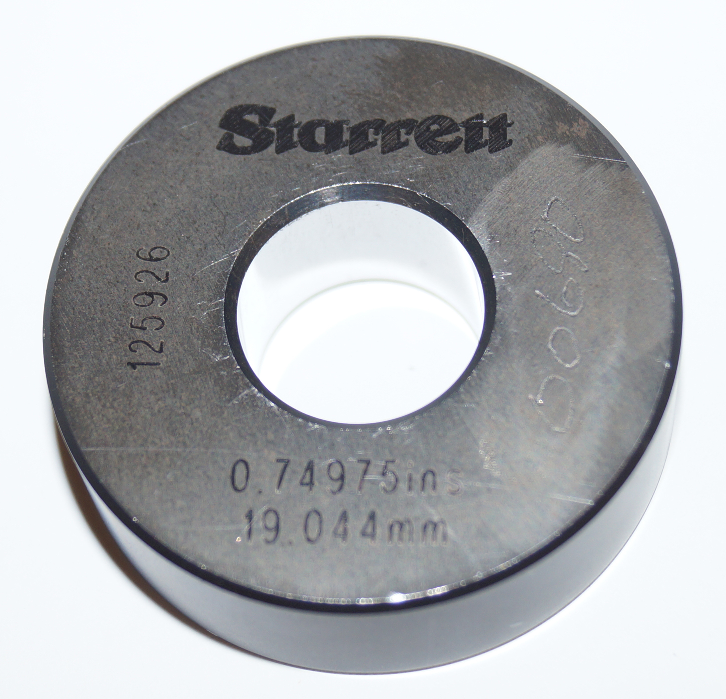 Starrett Master Setting Ring Gage .75 0.74975 19.044mm