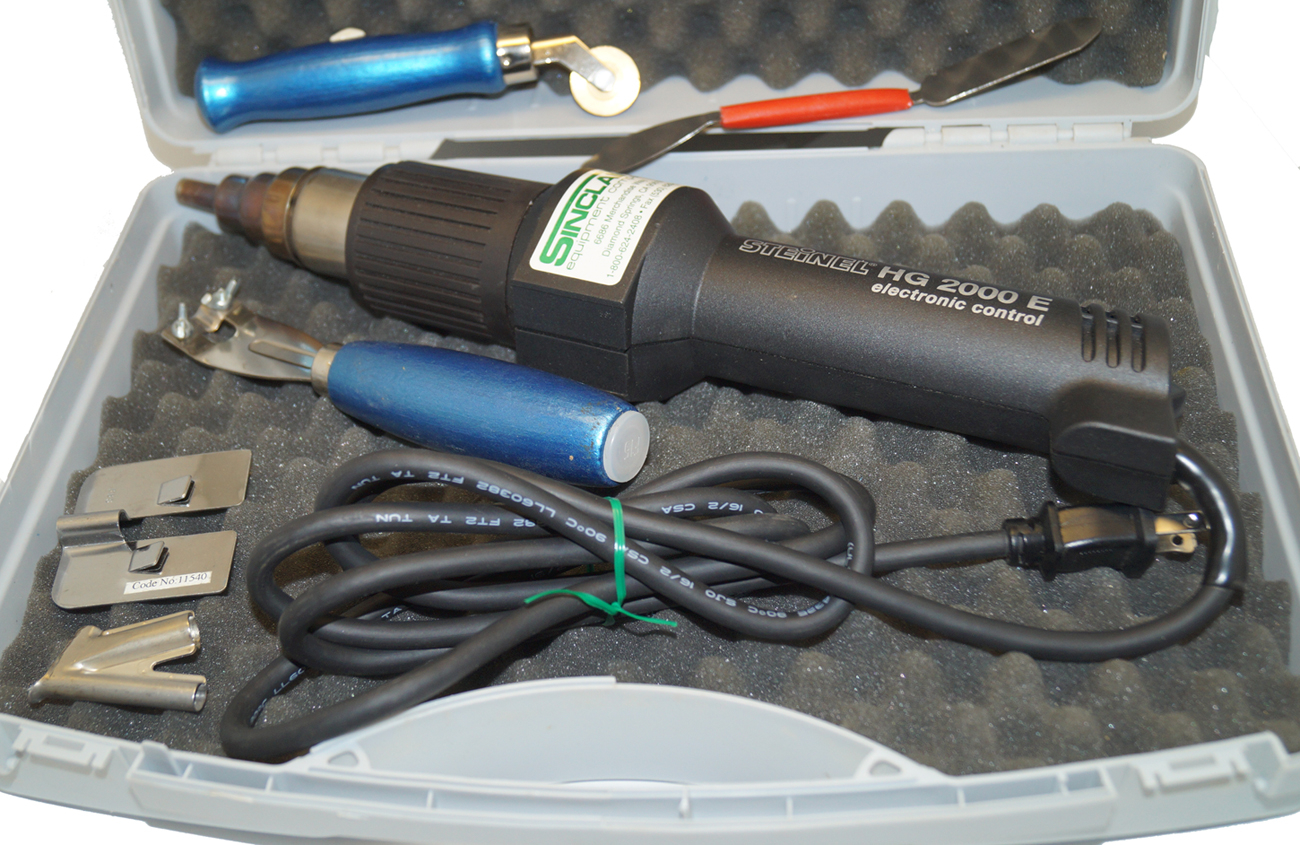 Floor Welding Kit, Steinel 2000E, 20201 Electronic Heat Gun