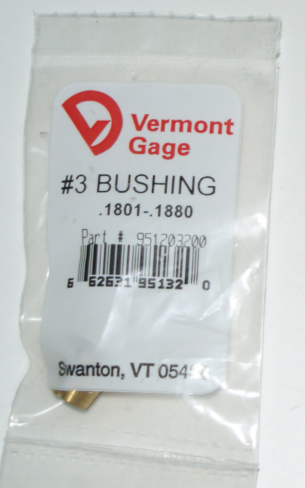 "Vermont Gage .1801-.1880"" #3 Bushing / Collet Pin"