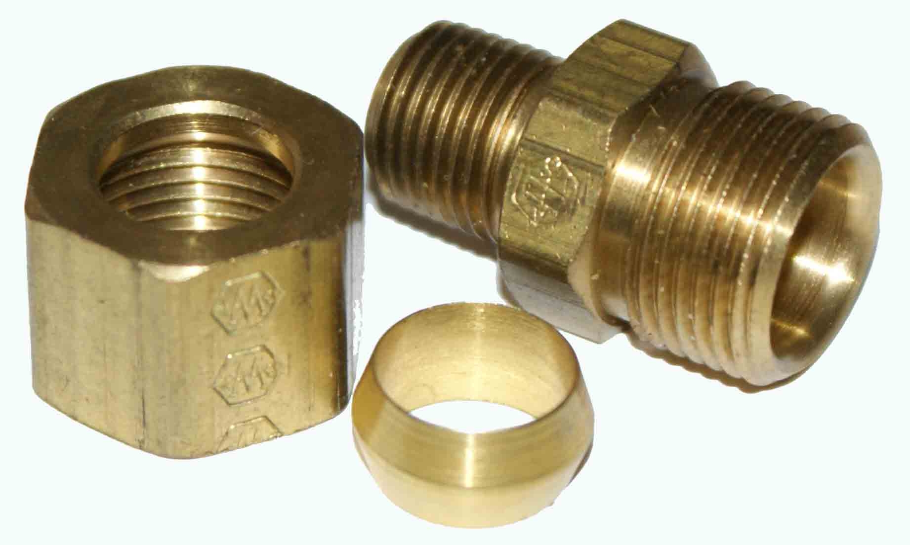 "Weatherhead 68X6X2 3/8"" Tube Male Compression Fitting"