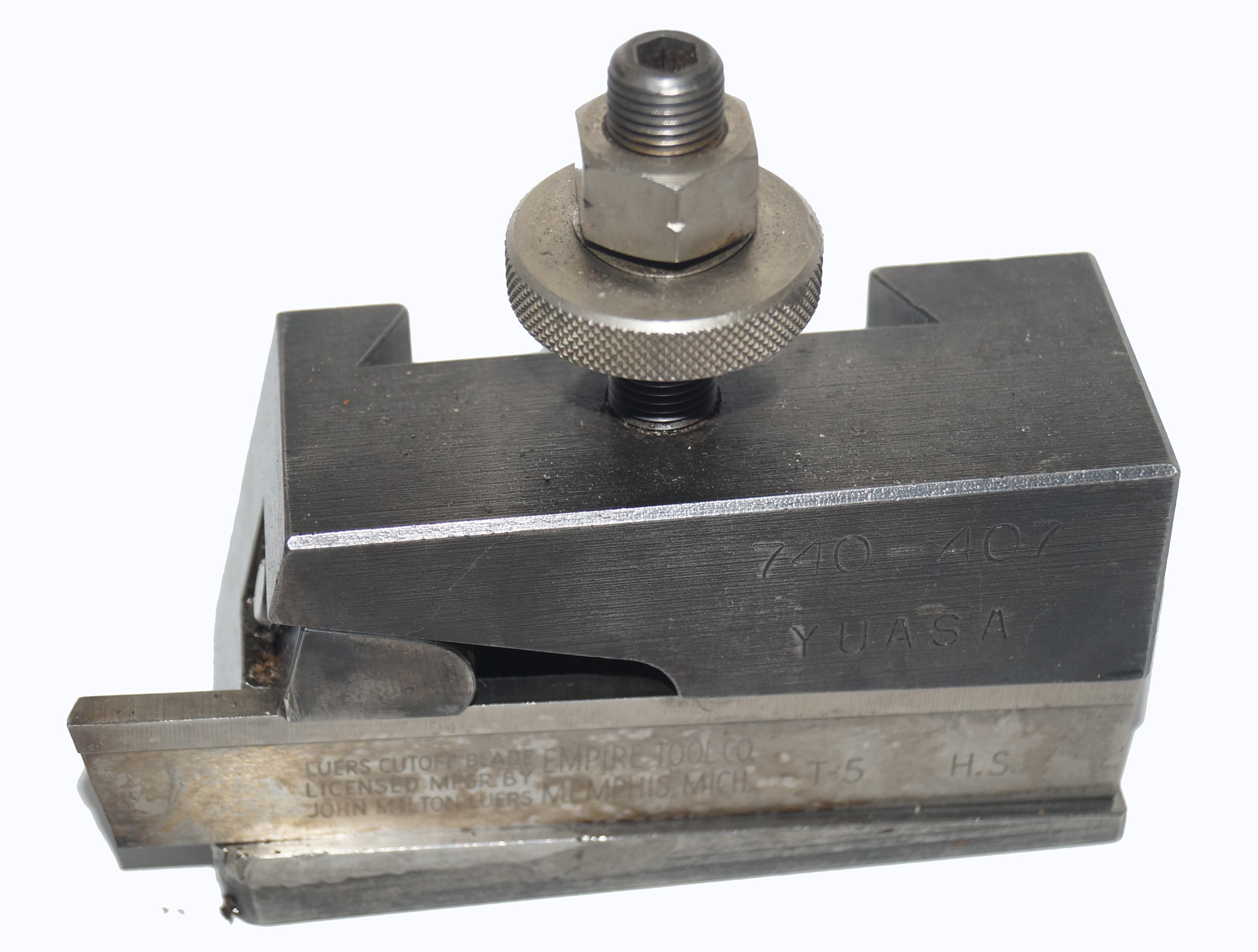 "Yuasa ""CA"" Cut-Off Toolholder with Blade, Lathe Tooling, 740-407"